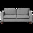 Canapé 3 places fixe en tissu gris borie-MORGIOU