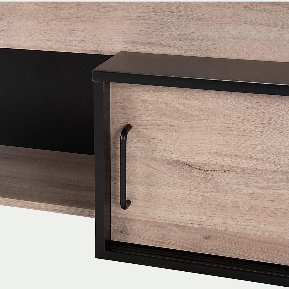 Lit avec rangements 90x200cm - bois clair-ADEN