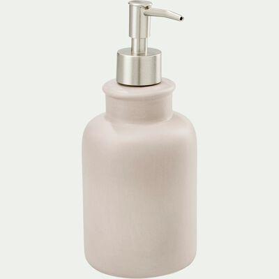 Distributeur de savon liquide en céramique - beige alpilles-DANA