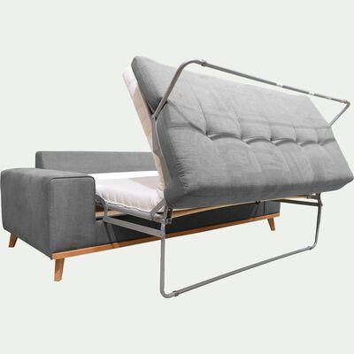Canapé 3 places convertible en tissu - gris anthracite-PICABIA
