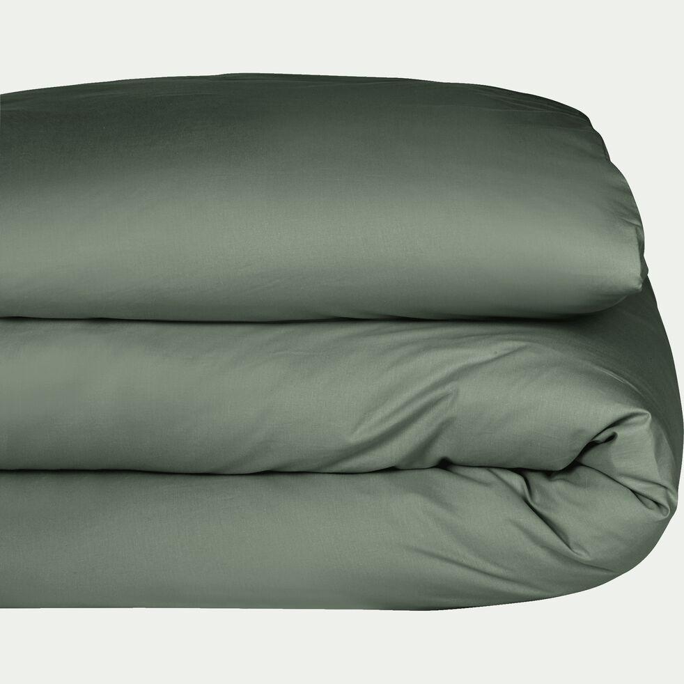 Housse de couette en coton - vert cèdre 240x220cm-CALANQUES