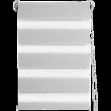 Store enrouleur tamisant gris clair 102x190cm-JOUR-NUIT