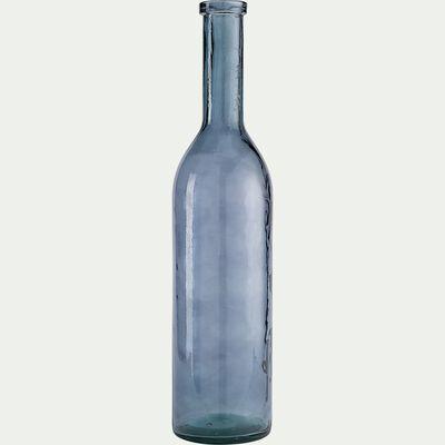 Vase en verre recyclé - bleu H75cm-VISHNU