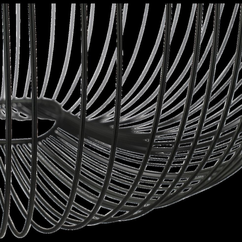 Suspension en métal filaire noir H65xD45cm-CLAUDINE