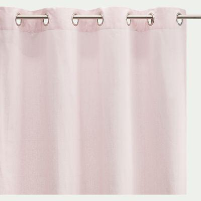 Rideau à œillets en coton - rose simos 140x250cm-CALANQUES