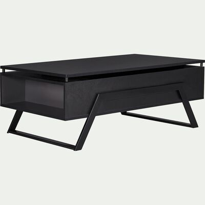 Table basse noire avec tablette relevable-TURN
