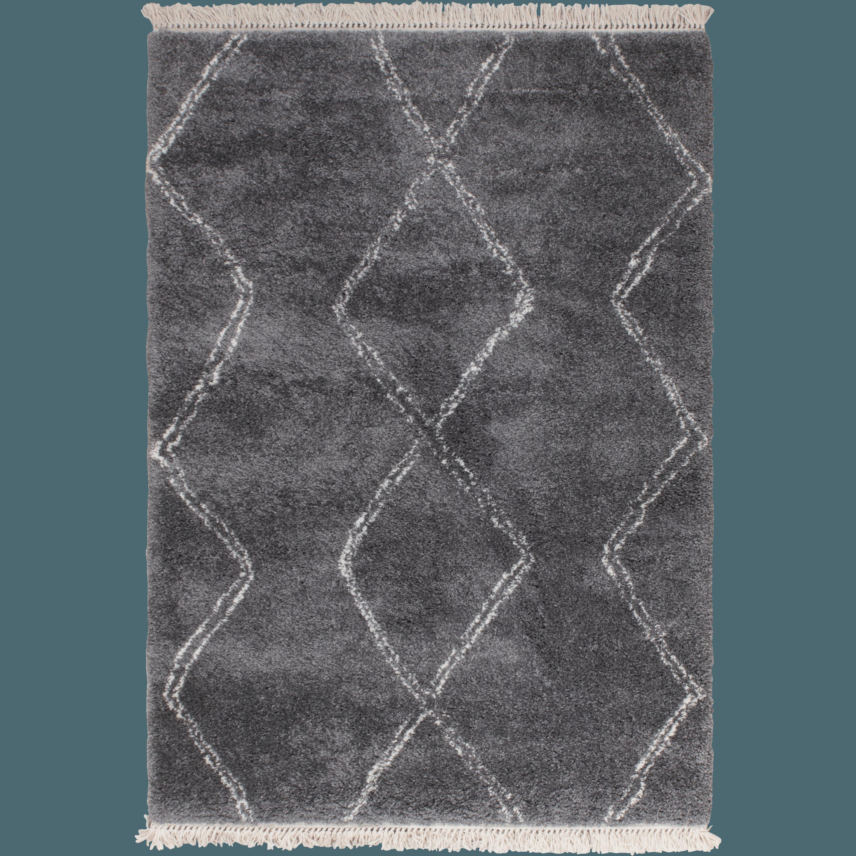 Tapis De Style Berbère à Franges Gris 120x170 ...