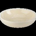 Assiette creuse en faïence jaune pâle D16cm-CAMELIA