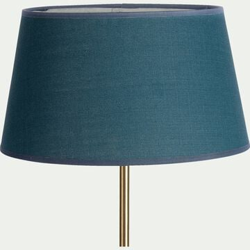 Abat-jour en coton - D18cm bleu figuerolles-MISTRAL