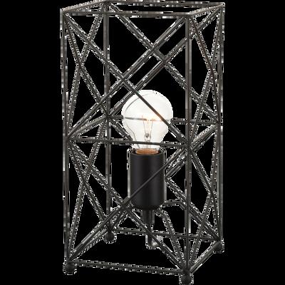 Lampe à poser géométrique en métal noir H36cm-LILAS