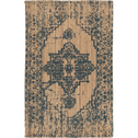 Tapis tissé en jute à motifs verts 120x170cm-SHONG