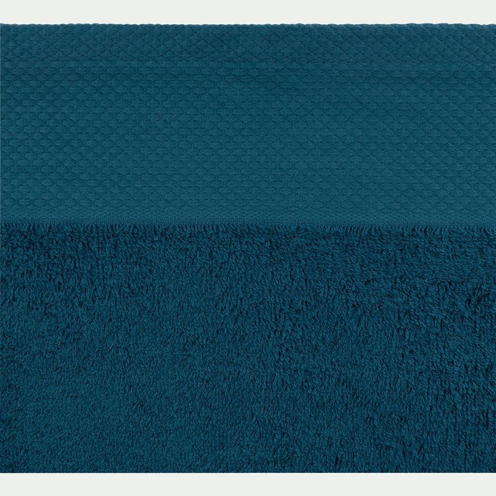 Drap de douche en coton peigné - bleu figuerolles 70x140cm-AZUR