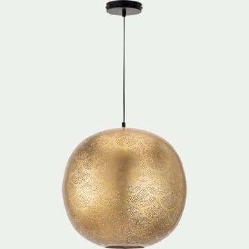 Suspension en fer perforé - doré D40cm-DIWALA