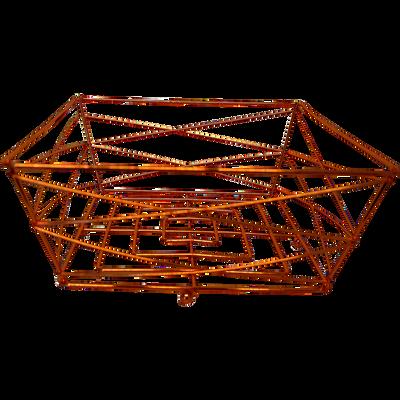 Corbeille à fruits filaire en métal cuivré-COPPER