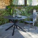 Chaise de jardin avec accoudoirs - gris vésuve-JADIDA