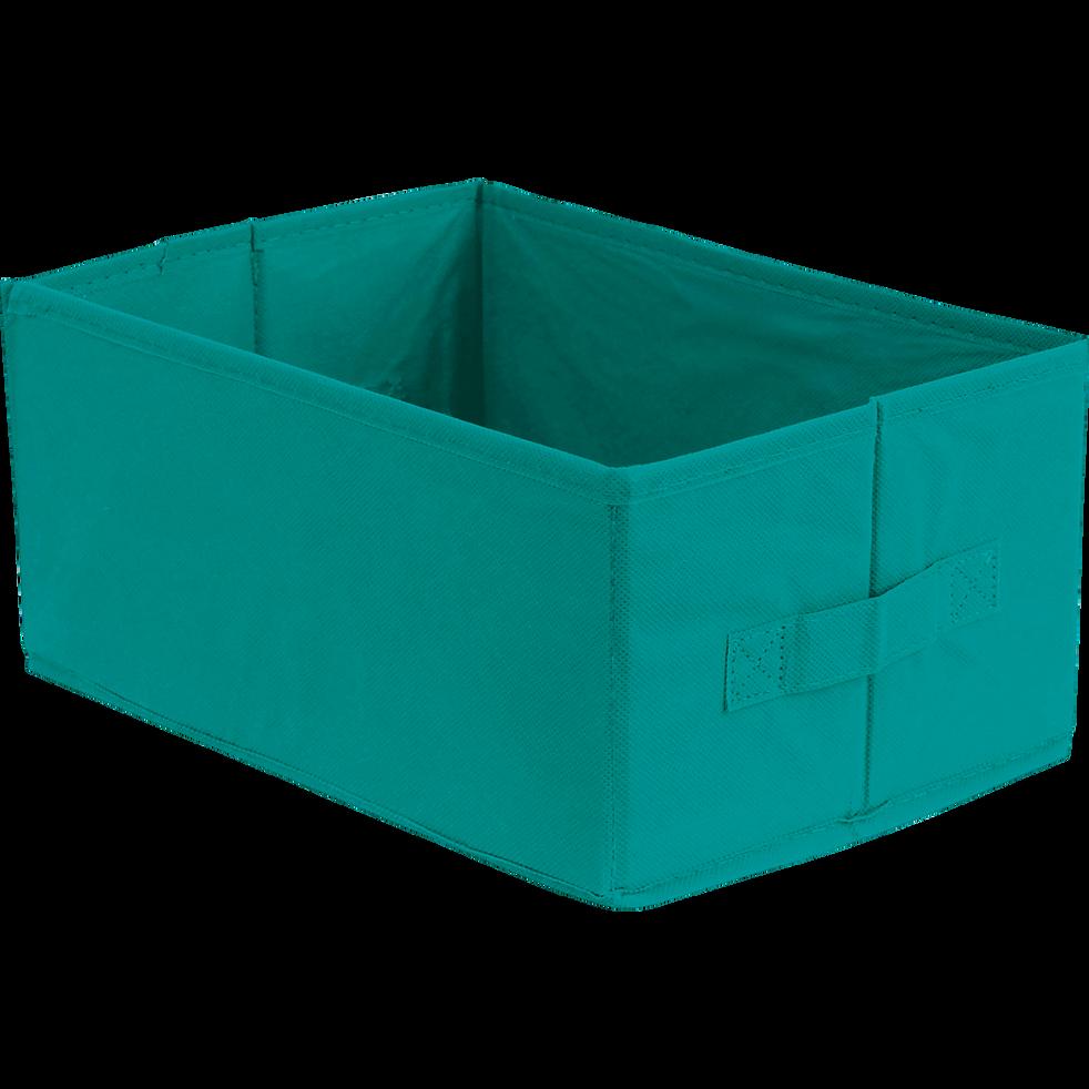 Panier de rangement bleu 32x22x15cm-IVY