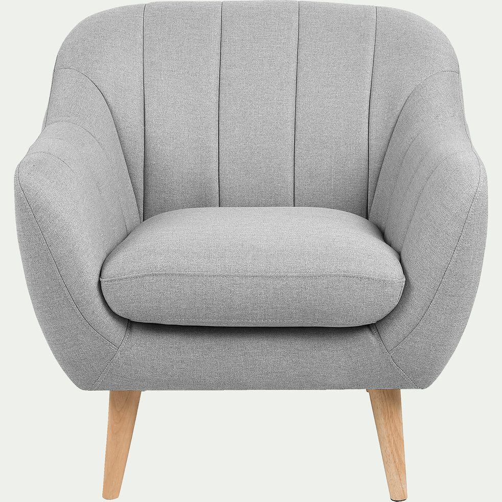 Fauteuil Lit Convertible Alinea shell - fauteuil en tissu gris
