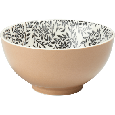 Coupelle en porcelaine rose argile motifs jasmin D11cm-AIX