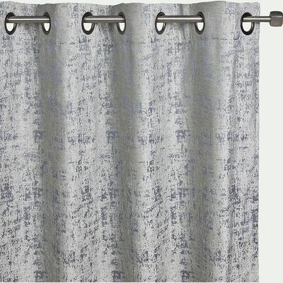 Rideau en velours dévoré gris 140x250cm-CHI