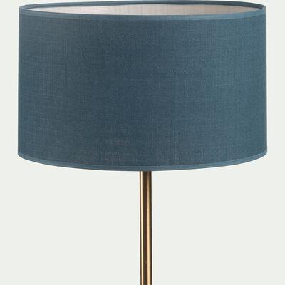 Abat-jour en tissu - D30cm bleu figuerolles-MISTRAL