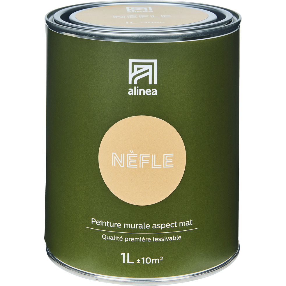 Peinture acrylique mate multi-supports 1L beige nèfle-PEINTURE