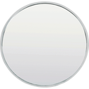 Miroir rond en métal coloris argent D30cm-LINO