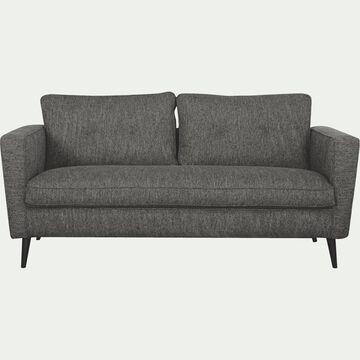 Canapé fixe 3 places en tissu - gris restanque-BARTHOLE