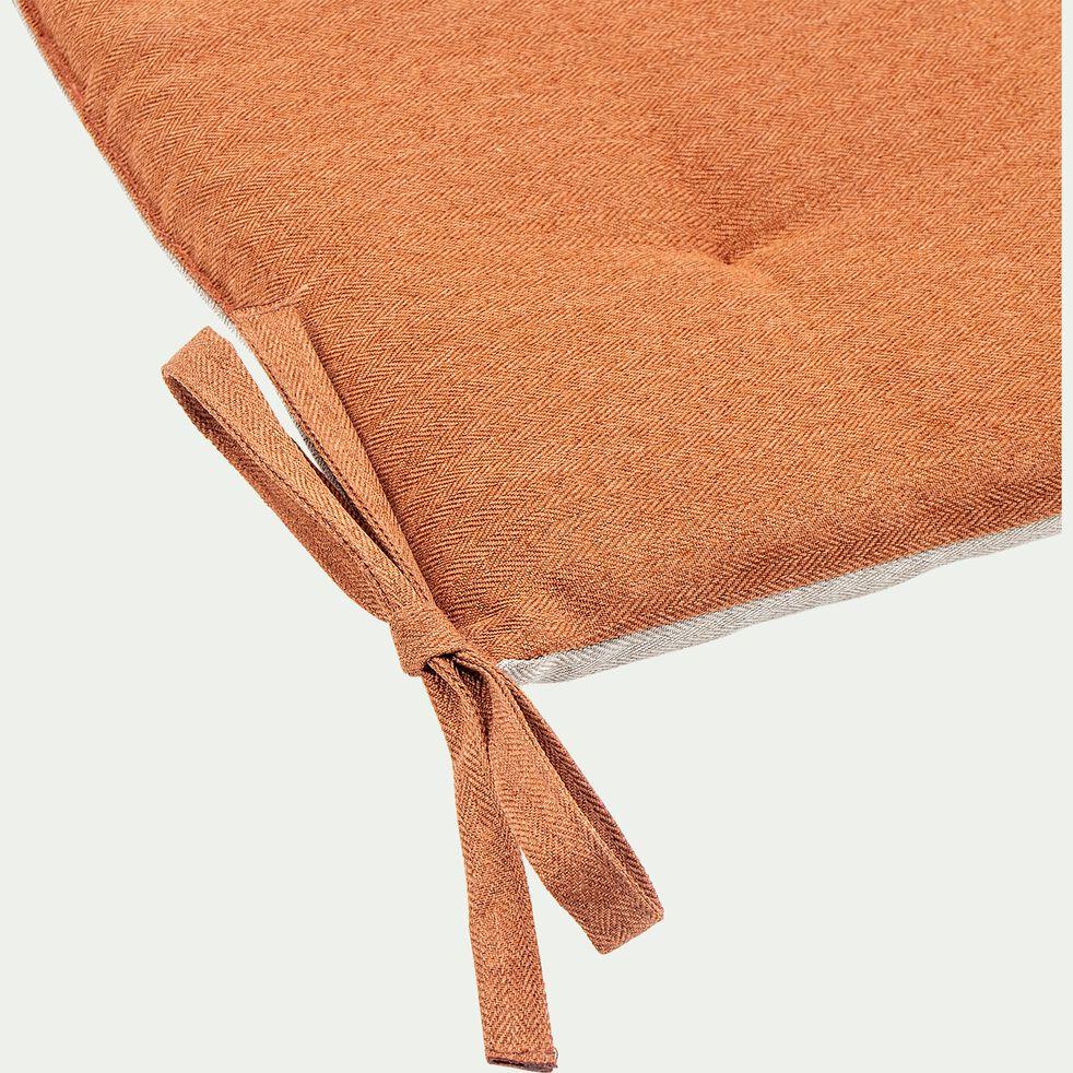 Galette de chaise de jardin en coton bicolore déperlant - beige-MIKO