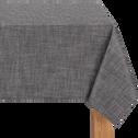 Nappe enduite en lin et coton gris 140x250cm-SEGUR