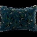 Coussin en velours imprimé floral vert 40x60cm-ORANGER