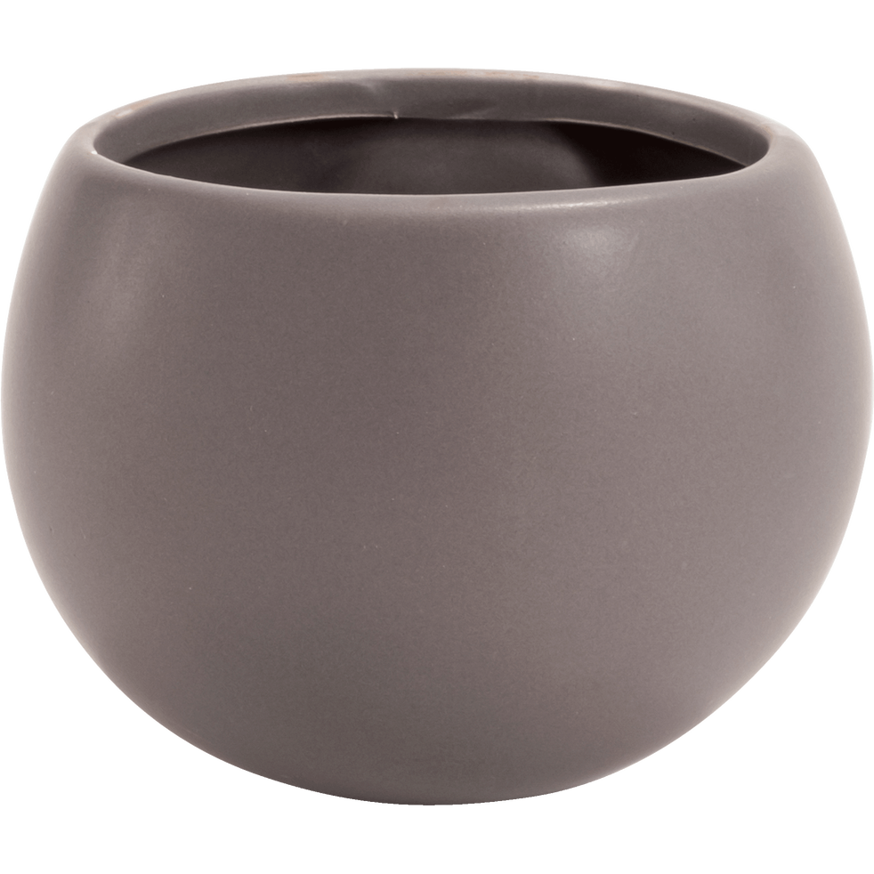 Cache-pot en céramique - gris - H10xD6cm-mai