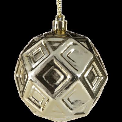 Boule en plastique doré D8cm-METRIE