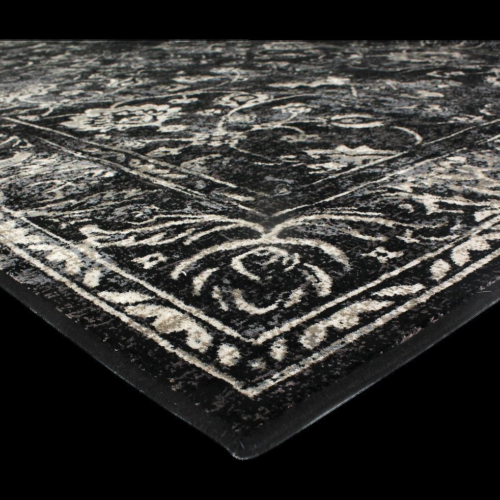 Tapis noir et blanc 137x200cm-ARABESK