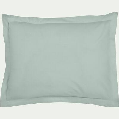 Taie d'oreiller en percale de coton - vert amande 35x45cm-CANDY
