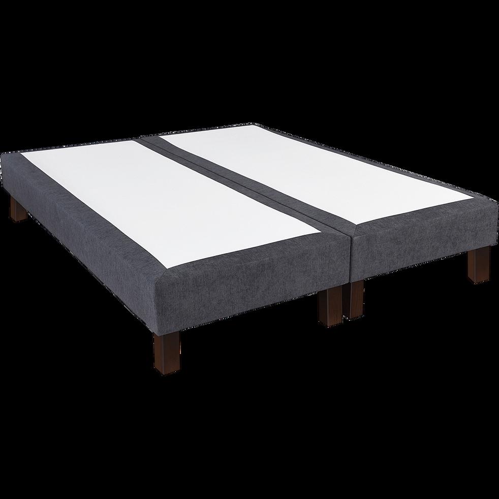 sommier tapissier duvivier Gris 18 cm - 2x80x200 cm-EVOK