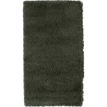 Descente de lit à poils longs vert cèdre 60x110cm-KRIS