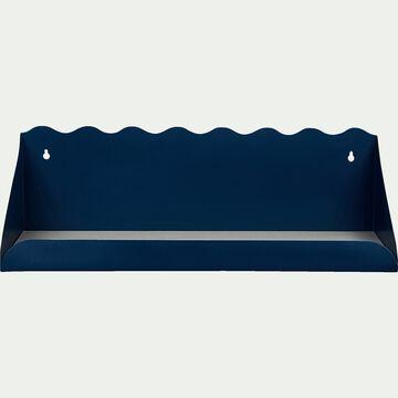 Étagère murale forme vagues - bleu l50cm-Maëlis