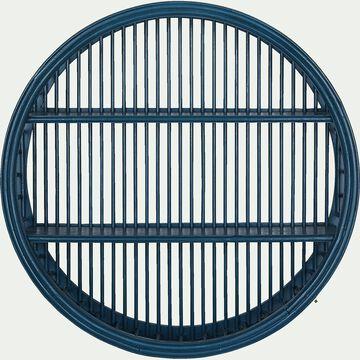Étagère murale forme ronde - bleu figuerolles D46cm-Estagiero