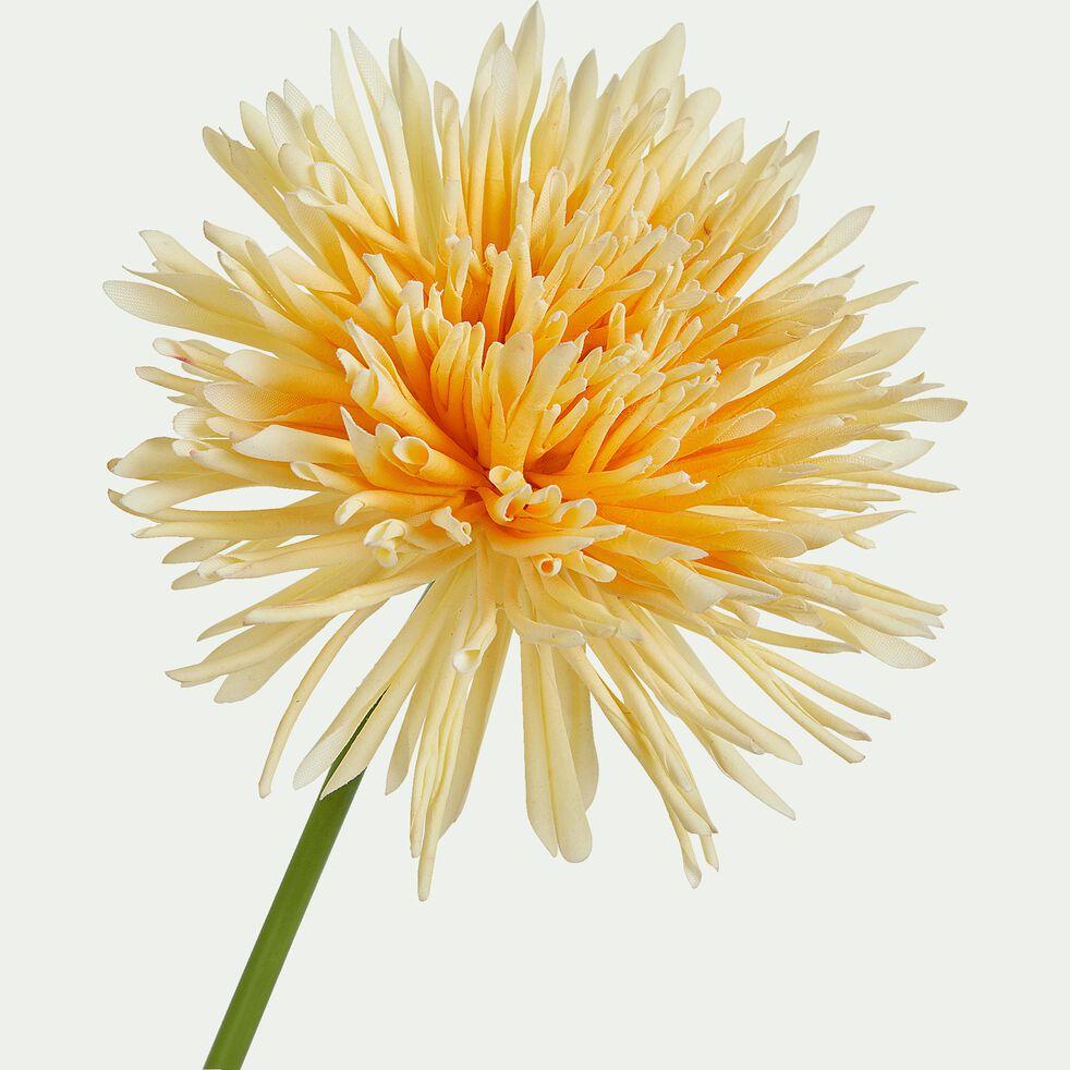 Fleur artificielle chrysanthème - jaune H67cm-MUMS
