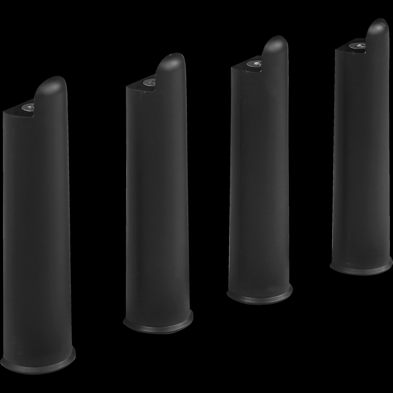 Pieds De Sommier Cadre à Lattes Noirs H22cm   Jeu De 4 Morpho