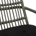 Fauteuil à bascule en rotin - vert cèdre-NUA