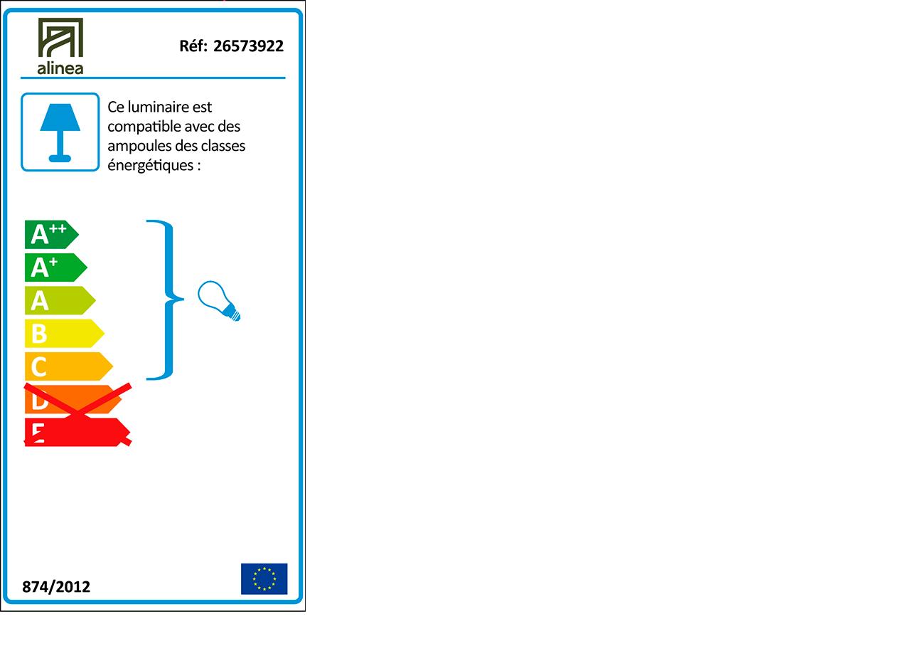 Pied de lampe en métal bleu figuerolles H41cm-OLIVIO