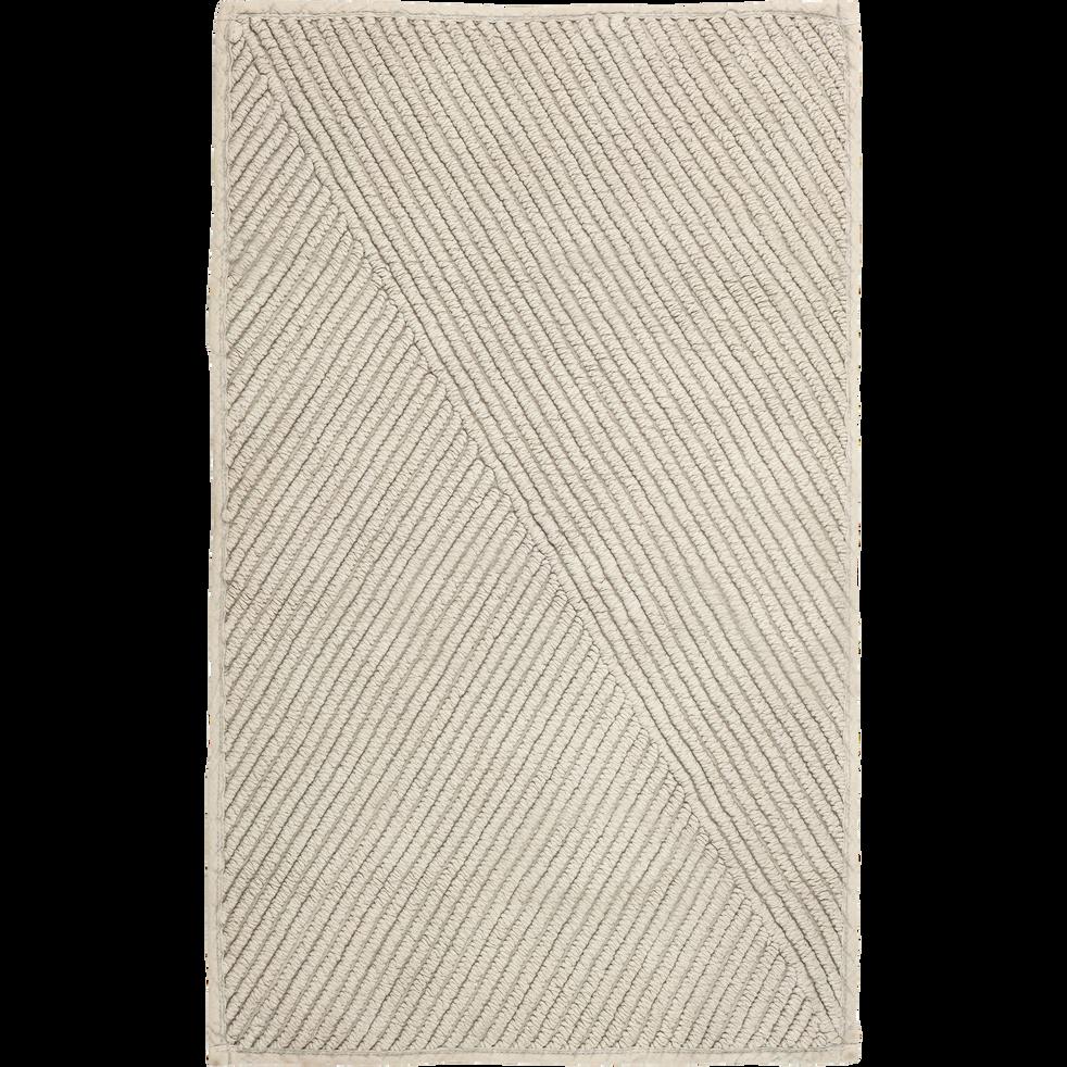 Tapis de bain en coton Taupe - 80x90 cm-HUPPE