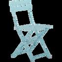 Chaise de jardin pliante en acier bleu-PIMS