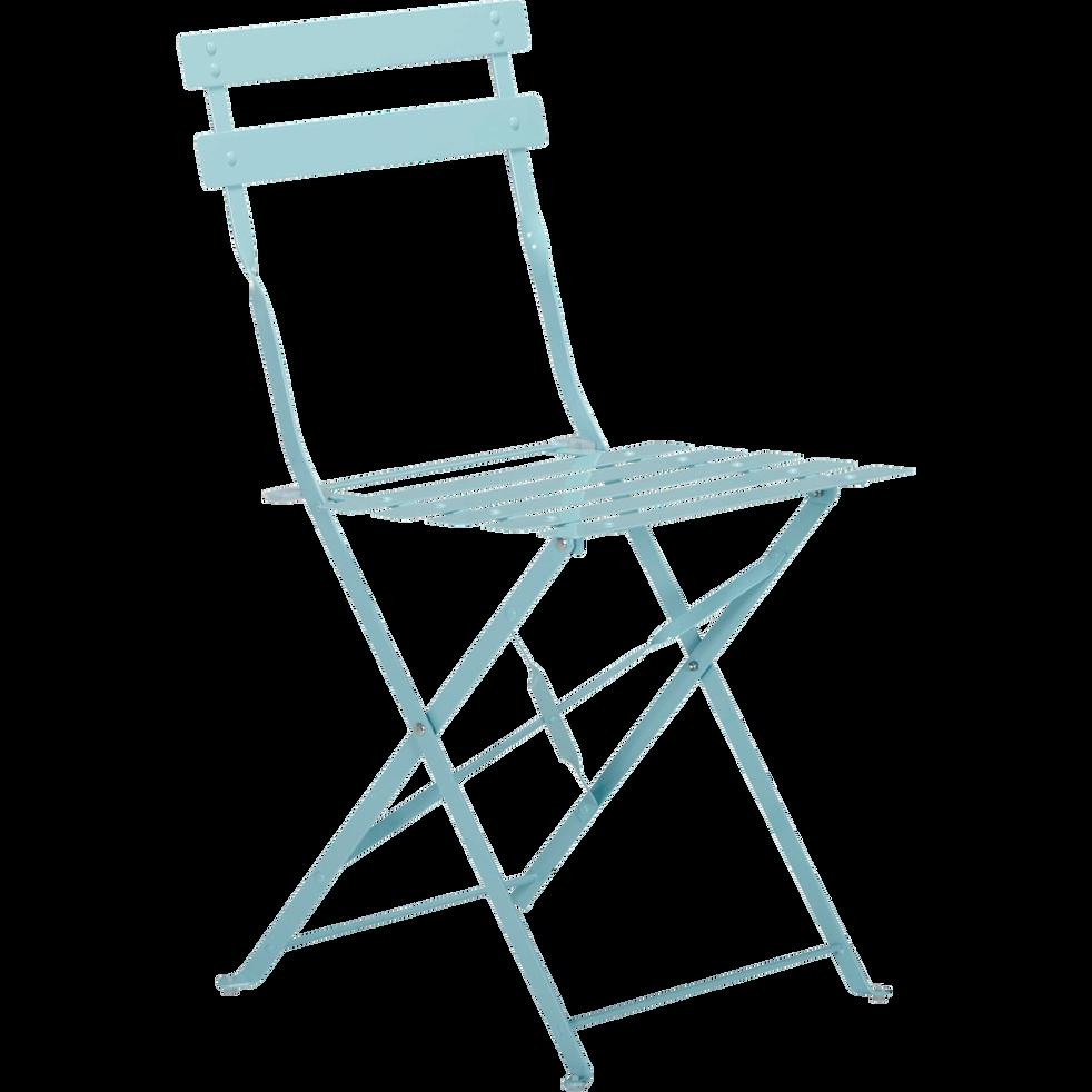 chaise de jardin pliante bleue grise en acier pims alinea. Black Bedroom Furniture Sets. Home Design Ideas