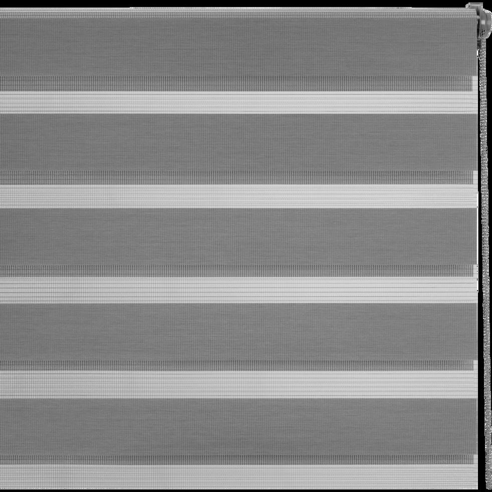 Store enrouleur tamisant gris anthracite102x190cm-JOUR-NUIT