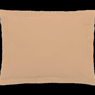 Taie d'oreiller en percale coton lavé 35x45cm argile-PALOMA