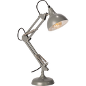 Lampe en métal gris H65x12cm-XXL