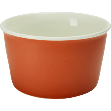 Coupelle en porcelaine orange D12,5cm-CAFI