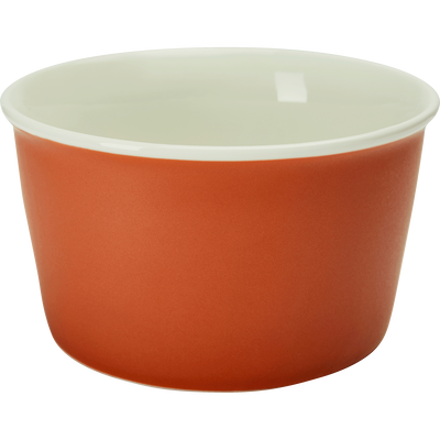 Coupelle en porcelaine orange D12,5cm-CAFI